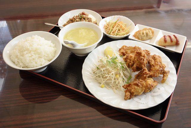 鶏肉の唐揚げランチ 680円(税別)