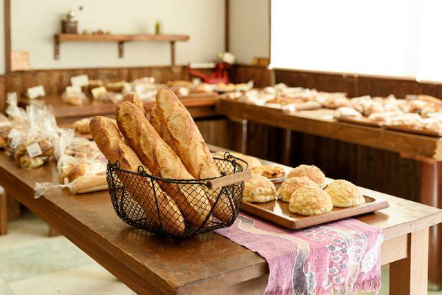 店内にパンの香りが広がります